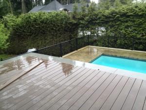 Concrete curbs and composite decks