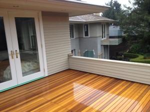 Removable cedar decking panels